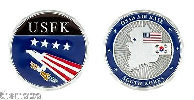 "Osan Air Base South Korea  Air Force Usfk Military 1.75"" Challenge Coin"