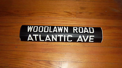 VINTAGE NYC SUBWAY R14 IRT COLLECTIBLE ROLL SIGN WOODLAWN ROAD ATLANTIC AVENUE