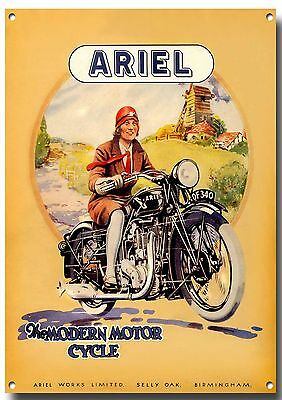 Lge A3 Size Ariel Motorcycles Enamelled Metal Sign,classic,vintage,enthusiast.