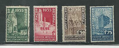 BELGIUM # 258-261 Mint/Used BRUSSELS INTERNATIONAL EXHIBITION