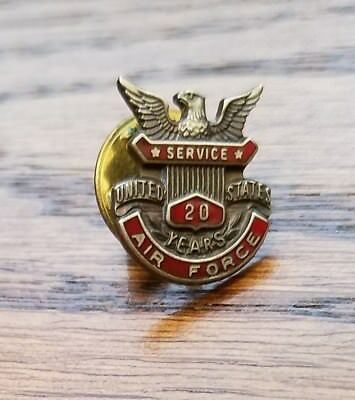 U.S. AIR FORCE 20 YEAR STERLING SILVER SERVICE PIN