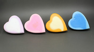 HEART Hand Painted Wood Cut Out Childen's Novelty Drawer Knobs Pulls