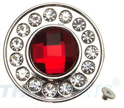 Strass Concho Rot rund 35mm Concha Conchos Conchas red
