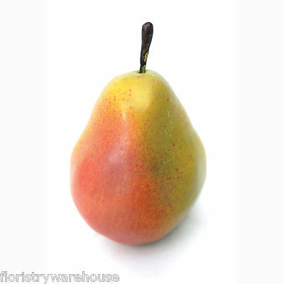 Artificial Pear 10cm realistic life size fake mock fruit