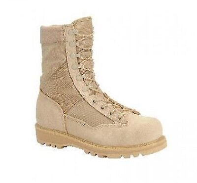 US Army Military CORCORAN Mens 9 Desert Tan Combat Stiefel ACU Boots 44