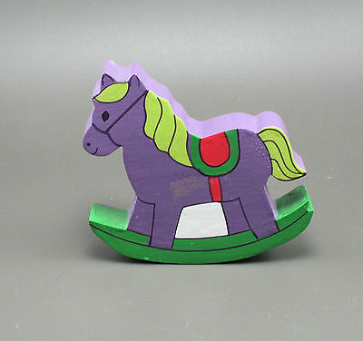 ROCKING HORSE Hand Painted Wood Cut Out Childen's Novelty Drawer Knob Pull