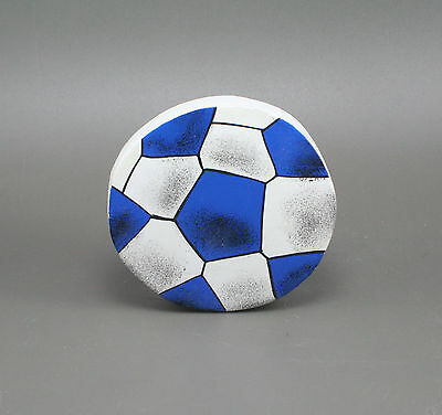 SOCCER BALL Hand Painted Wood Childen Novelty Drawer Knob Pull