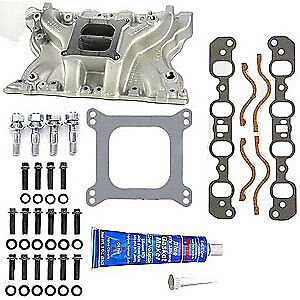 Weiand 8010K Action +Plus Intake Manifold Kit Ford 351M-400 2V Heads
