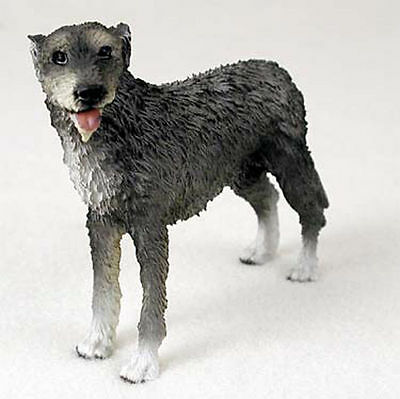 Irish Wolfhound Hand Painted Collectible Dog Figurine