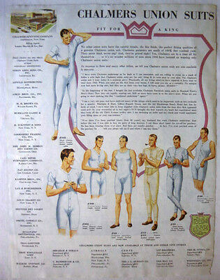 1948 Chalmers Union Suits - Underwear Fit For A King Print Ad!