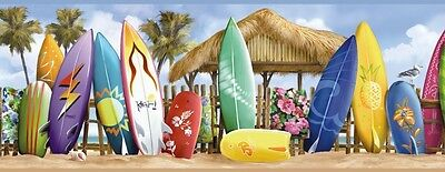 Surfside Surfboards Wallpaper Border--Beach/Tropical/Surf
