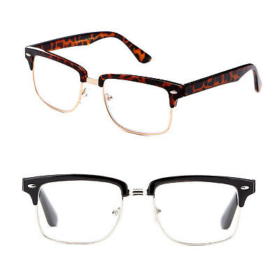 fb0fffcd40682 READERS RECTANGULAR HALF Frame Vintage Style Reading Glasses