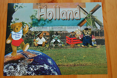 Teddy Bears Of The World Holland Union Island St Vincent 2003 Stamp Sheet MNH