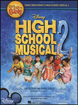 Let's All Sing High School Musical 2 Piano Vocal Guitar Sheet Music Book
