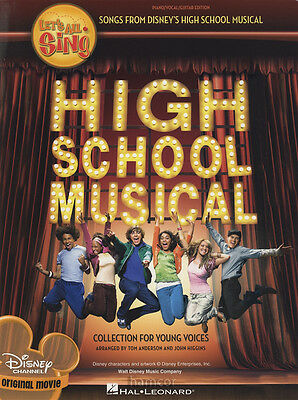 Let's All Sing High School Musical Piano Vocal Guitar Sheet Music Book