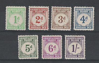 Gilbert & Ellice Islands 1940 Postage Due 1D To 1/-