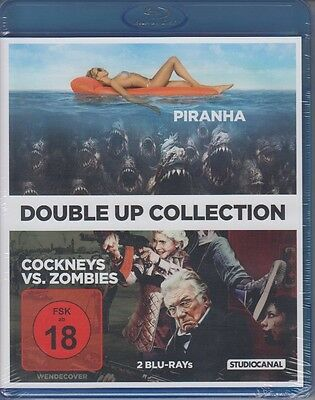 Piranha + Cockneys vs. Zombies   BLURAY NEU FSK 18