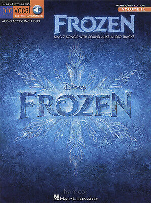 Frozen Pro Vocal Sheet Music Book with Download Audio Access