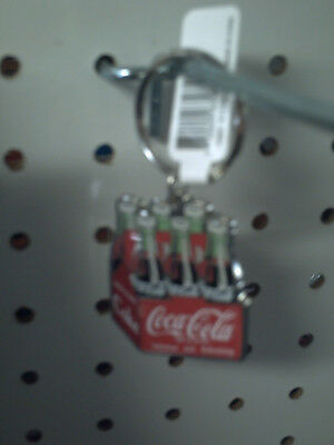 Coca Cola Key Chains Metal 6 Pack Or Bottle