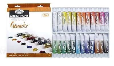 GOUACHE PAINT SET 24 Tubes ROYAL LANGNICKEL Art Painting Poster