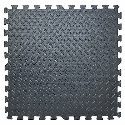 Foam Floor Mat Interlocking Play Garage Gym Soft Exercise Tiles Set of 4 16sq ft
