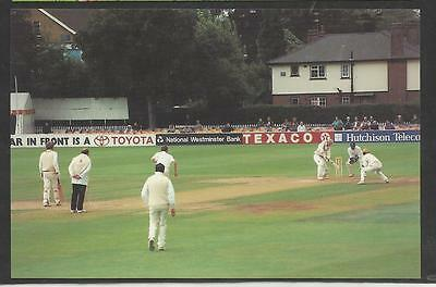 Postcard Featuring David Gower's Last First-Class Cricket Appearance