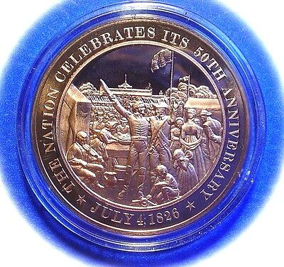 1826 United States 50th ANNIVERSARY Celebration SOLID BRONZE Medal UNCIRCULATED