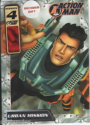 Action Man Age 4  Birthday Card Gemma Designs 2002 With Decoder Gift  AS NEW!