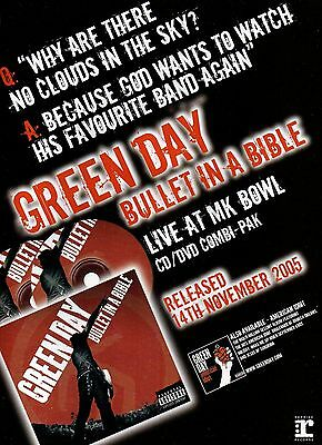 Green day-2005 magazine advert