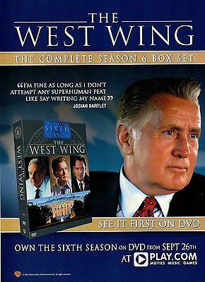 The West wing season 6-2005 magazine advert