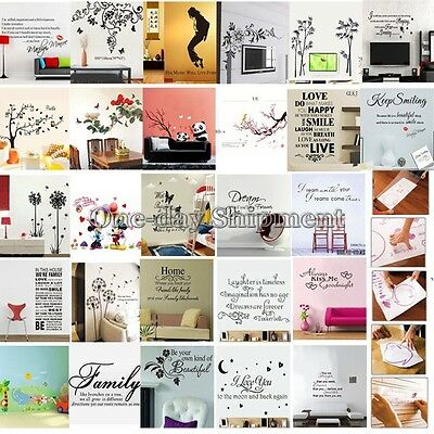 Removable Wall Sticker Decal Mural Art Vinyl Quote Words Home Decor For Kids DIY