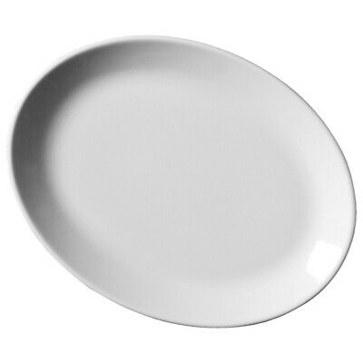 Royal Genware Oval Plates 21cm x 6 | 8.25inch Plates