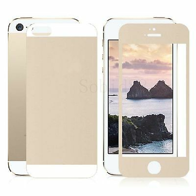 Front And Back Tempered Glass Screen Protector Clear Flim For Apple iPhone 5G 5S