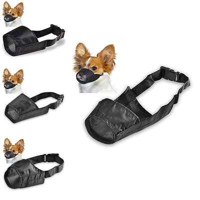 Dog Puppy Nylon Fabric Breathable Mesh Adjustable Mouth Restraint Chew