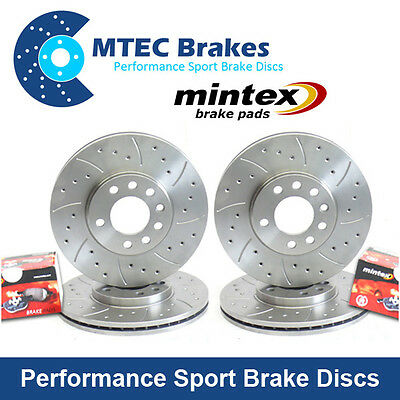 Civic Type R EP3 01-05 Front Rear Drilled Grooved MTEC Brake Discs & Mintex Pads