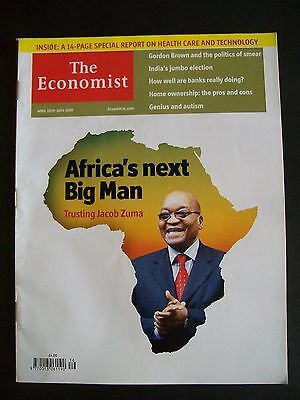 The Economist Magazine. April 18th - 24th, 2009. Volume 391. Number 8627.