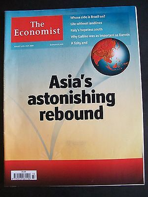 The Economist Magazine. August 15th - 21st, 2009. Volume 392. Number 8644.