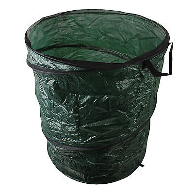 Garden Waste Bin Sack Pop Up Strong Refuse Rubbish Grass Leaves Outdoor Green