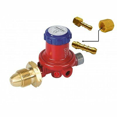 LPG Gas Hose Regulator Propane Bottle 0.5-4 Bar 6mm Tail Barbecue Heater 196559