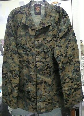 Usmc Marine Corps Woodland Marpat Mccuu Blouse Shirt Pre Owned Var Sizes Exclnt