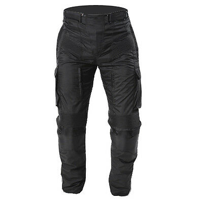 New Motorcycle Cargo style Waterproof Cordura CE armour Pant Size 30 to 48 Waist