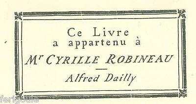 EX-LIBRIS d'Alfred DAILLY.