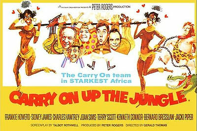 Movie Poster Fridge Magnet - Carry On Up The Jungle
