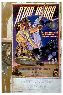 """Star Wars: Episode Iv - A New Hope - Movie Poster (Style D) (Size: 27 X 40"""")"""