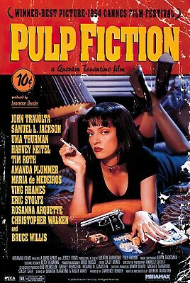 "Pulp Fiction - Movie Poster (Regular Style - Uma On Bed) (Size: 24"" X 36"")"