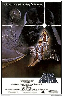 "Star Wars Episode Iv - A New Hope - Movie Poster (Style A) (Size: 24"" X 36"")"
