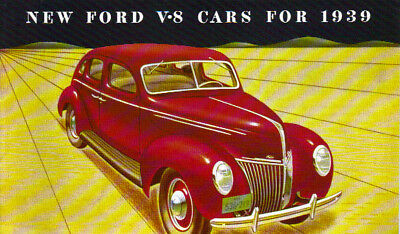 1939 Ford V-8  Passenger Car Sales Brochure