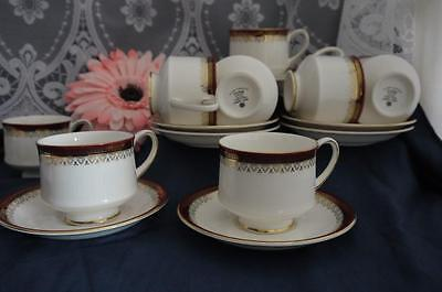 7 x CLASSIC ROYAL ALBERT Holyrood CUPS & SAUCERS V.G.COND