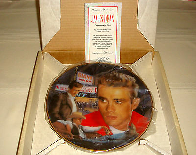 Commemorative JAMES DEAN Plate 3 Movies Rebel Without Cause Giant & East Of Eden
