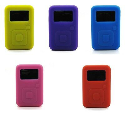 Silicone Skin Case Cover for Sandisk Sansa Clip Plus + Display Saver MP3 Player